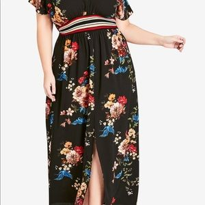 City chic Avery floral maxi dress